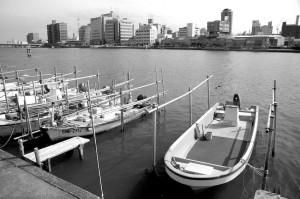 Embarcadère sur l'Ohashi-gawa, Matsue