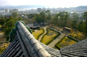 depuis l'observatoire du château, Matsue