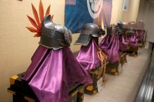 casques de samouraïs, Matsue-jo