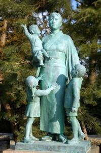 statue du parc de Matsue-jo