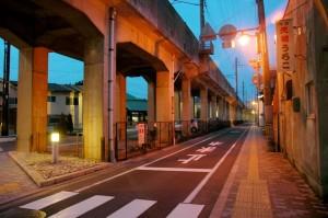 voie ferrée aérienne, Matsue