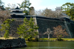 fortifications et douve, Matsue-jo