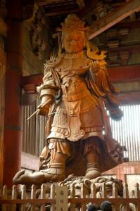 Koumokuten, le gardien céleste,Daibutsu-den, Todai-ji, Nara